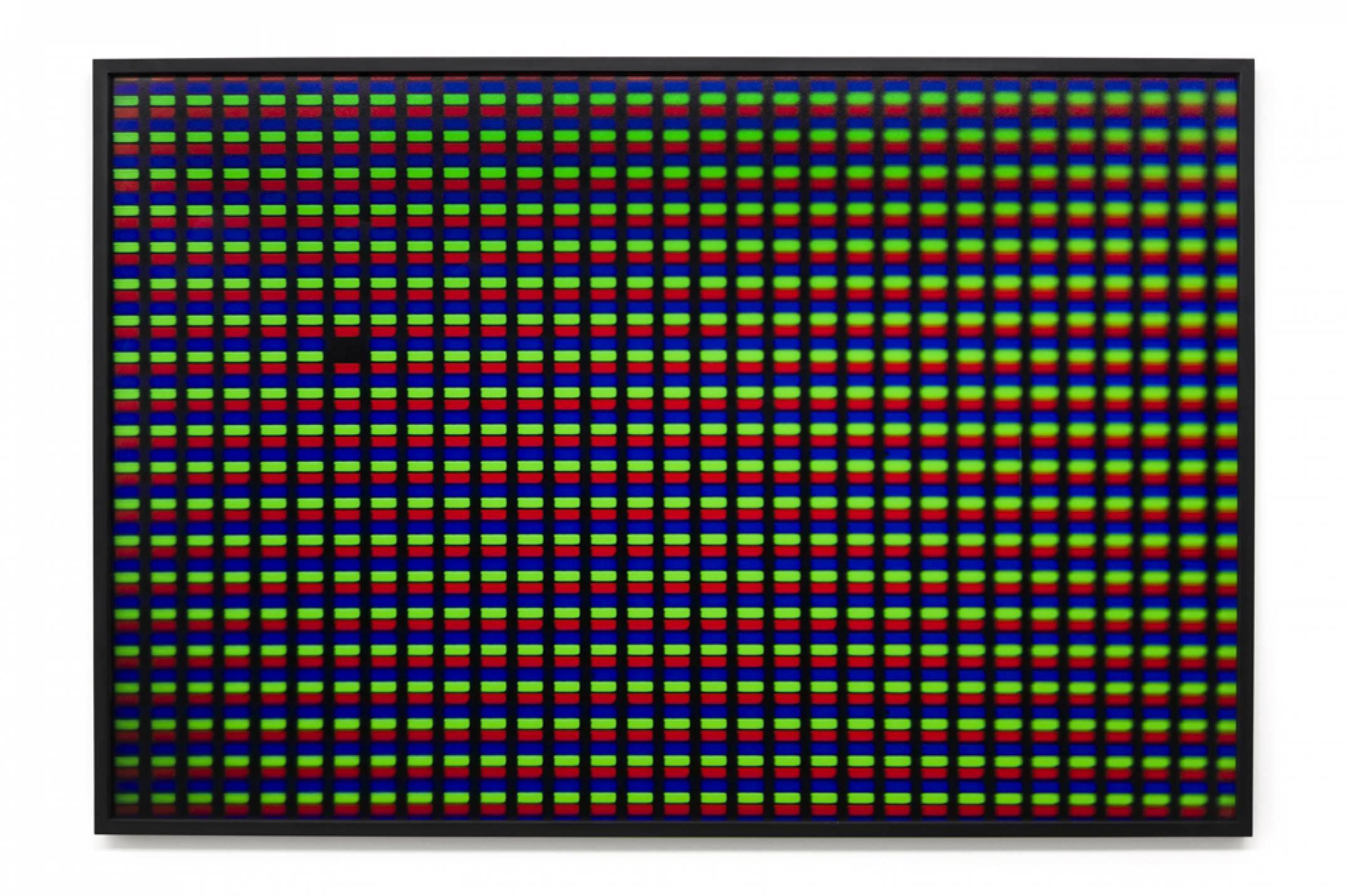 Roberto WInter, <em>Dead pixel (Ipod)</em>, 2017, impressão jato de tinta sobre papel Hahnemühle FineArt Baryta, 110 × 165 cm - Mendes Wood DM