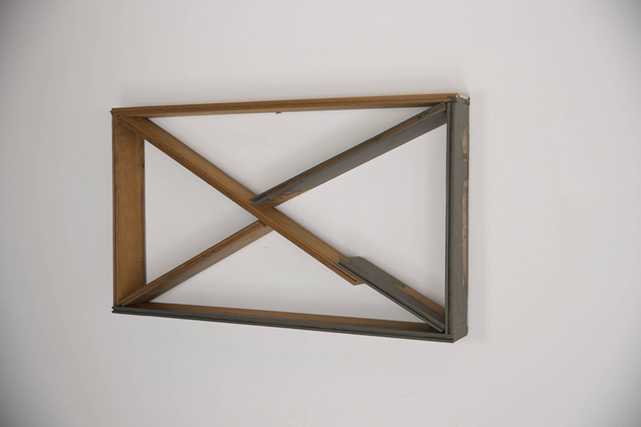 Kishio Suga,<em>Grafted Space—Z</em>, 1993, plywood, gray paint, 51,4 × 87,2 × 11,2 cm - Mendes Wood DM