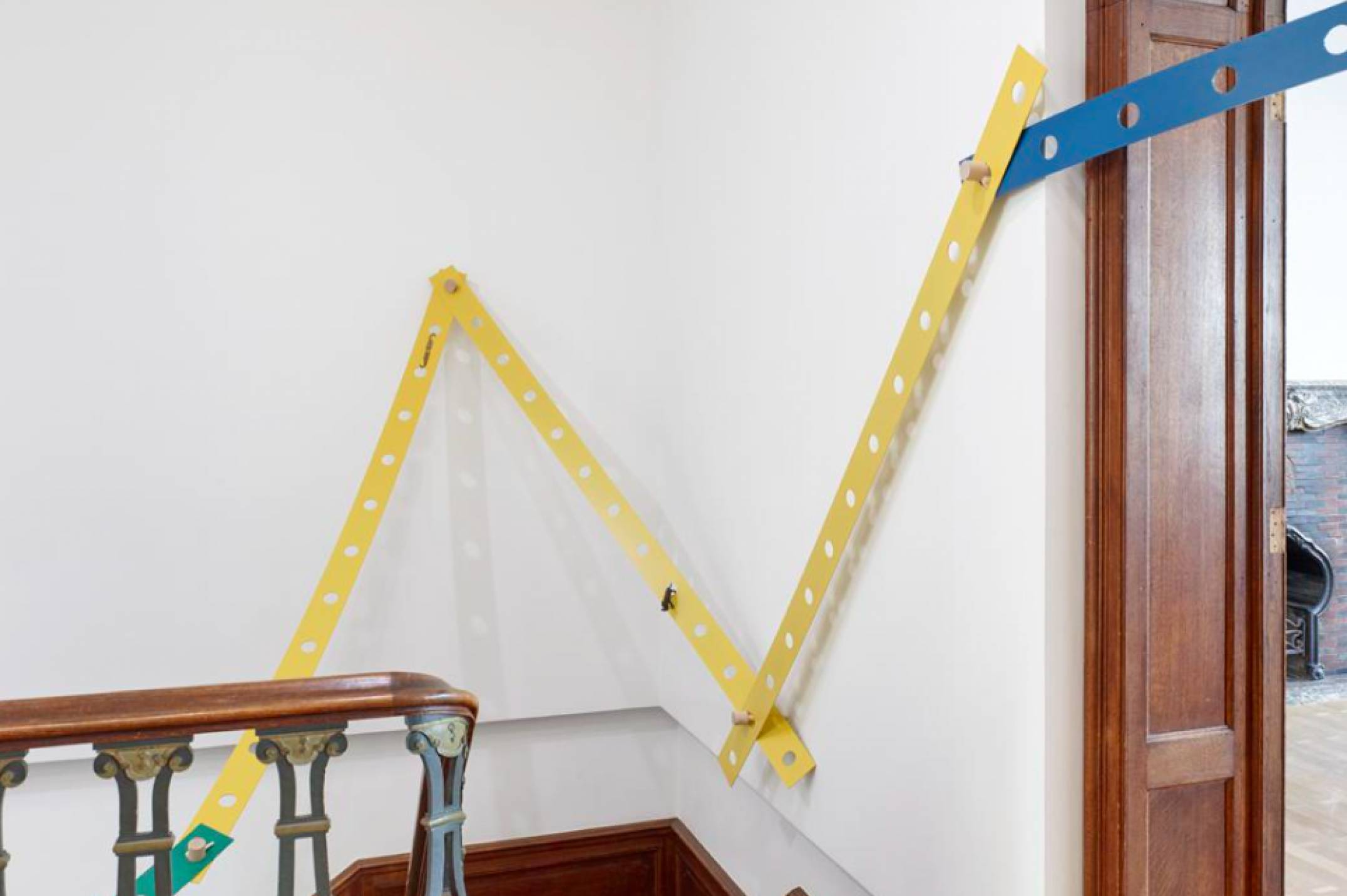 Mariana Castillo Deball, <em>Tonalpohualli Petate</em>, 2017, aluminum, wood, bronze, variable dimensions, 270 × 12 × 0,3 cm (each strip) - Mendes Wood DM