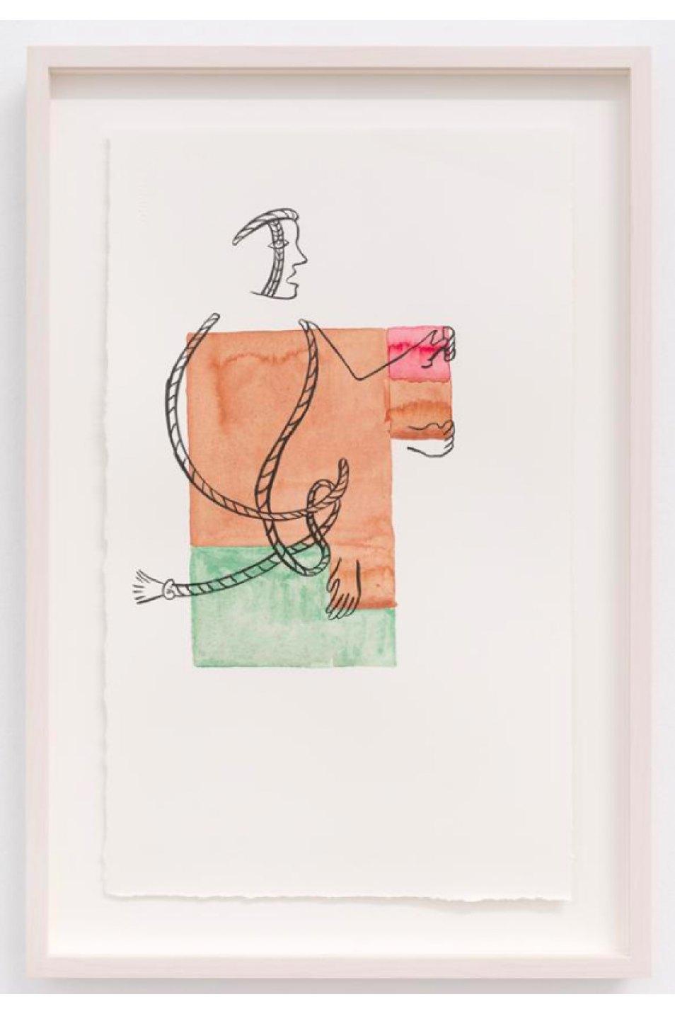 Mariana Castillo Deball,<em> Ixiptla I,</em> 2017, watercolor on paper, 35,5 × 21,5 cm - Mendes Wood DM