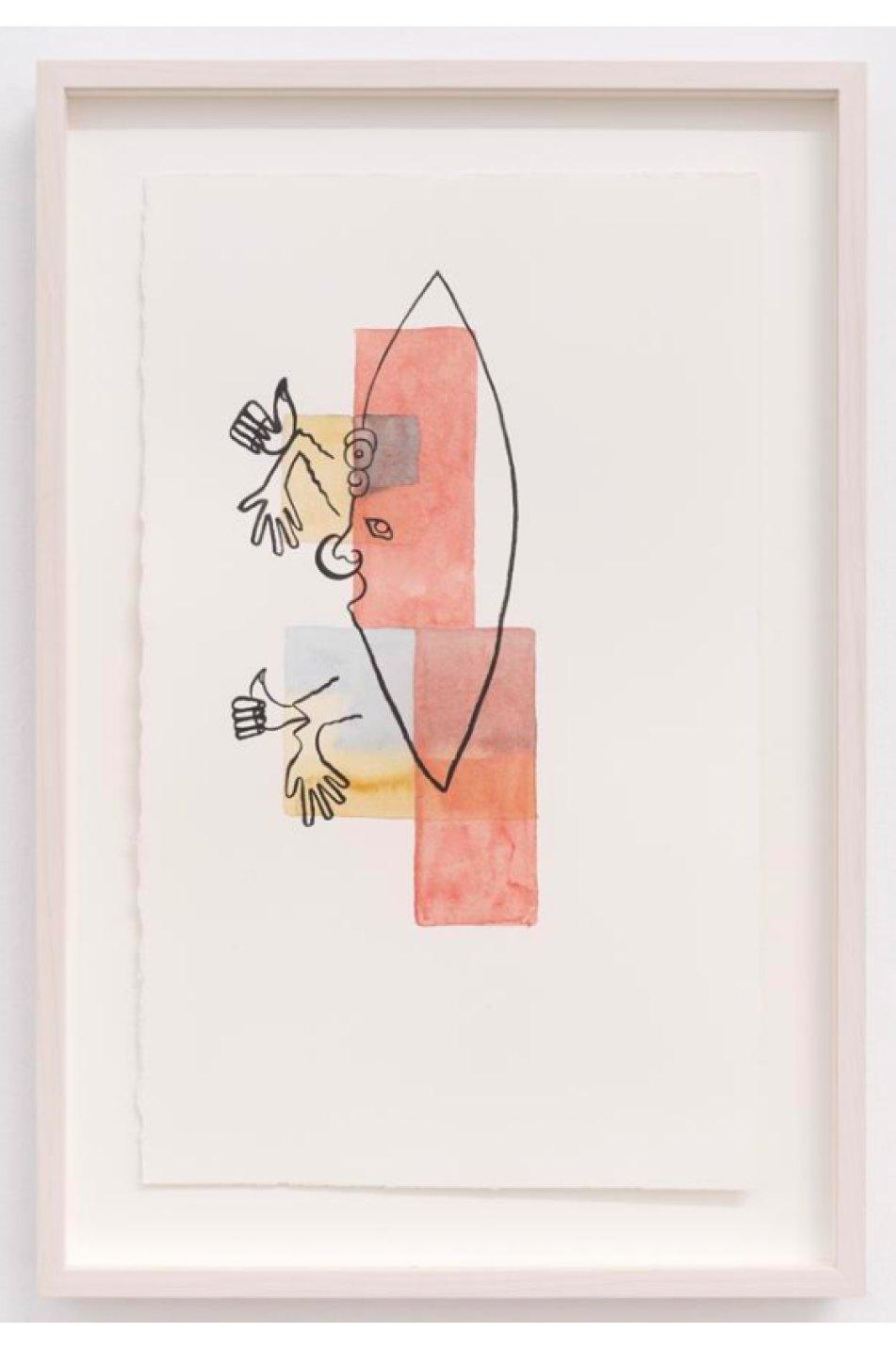 Mariana Castillo Deball,<em>Pedernal I,</em>2017, watercolor on paper, 35,5 × 21,5 cm - Mendes Wood DM