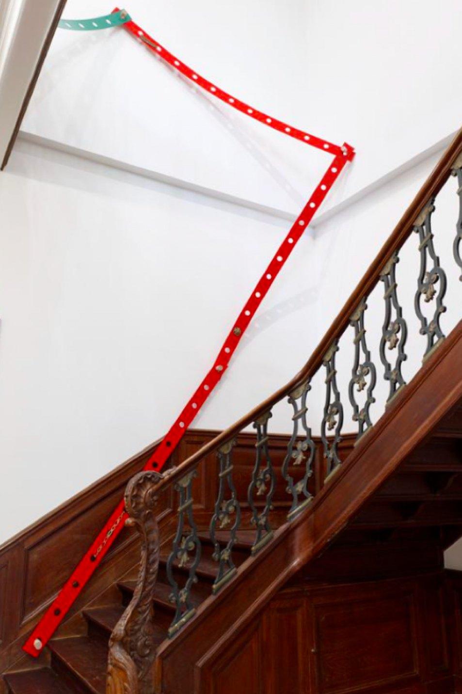 Mariana Castillo Deball, <em>Tonalpohualli Xip</em>e, 2017, aluminum, wood, bronze, variable dimensions, 270 × 12 × 0,3 cm (each strip) - Mendes Wood DM