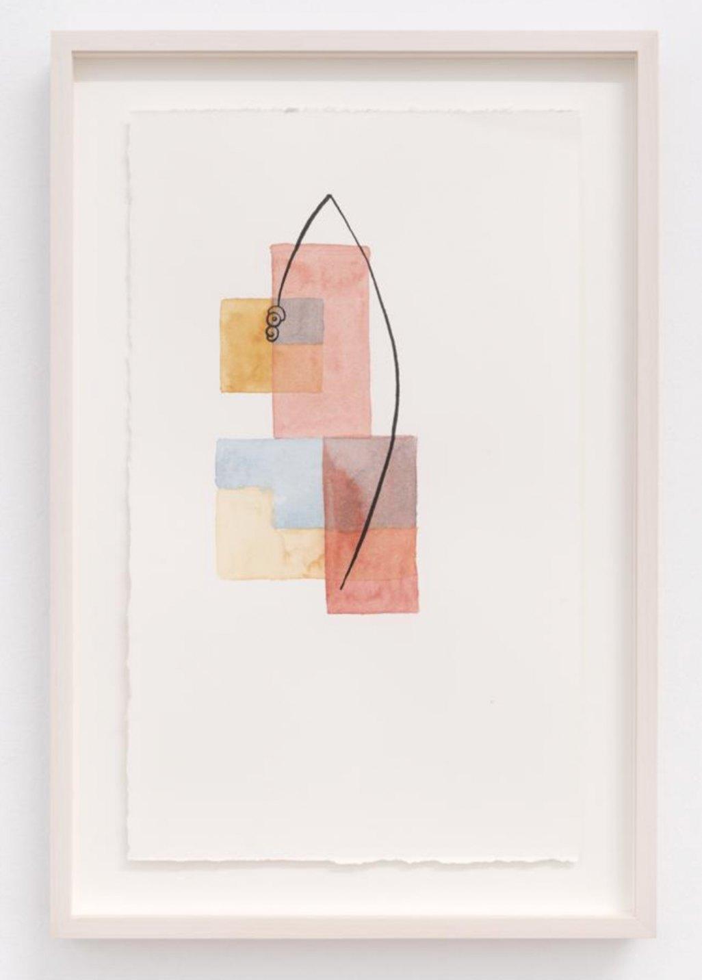 Mariana Castillo Deball,<em> Pedernal II,</em> 2017, watercolor on paper, 35,5 × 21,5 cm - Mendes Wood DM