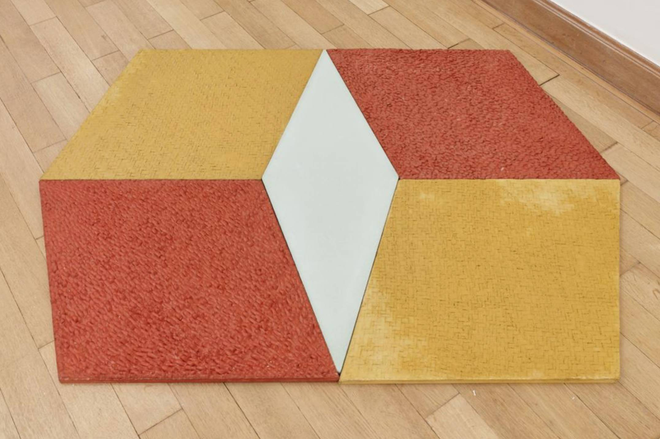 Mariana Castillo Deball, <em>Petate, Xipe, Turquesa, Xipe, Petate, </em>2017, colored concrete tiles with relief, 158 × 114 cm - Mendes Wood DM